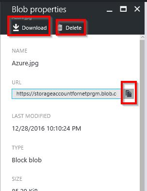 Azure Storage Account – Create Block Blob Programmatically using C#