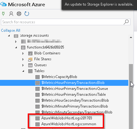 Explore Storage Account of Azure Functions – Table Service – Praveen