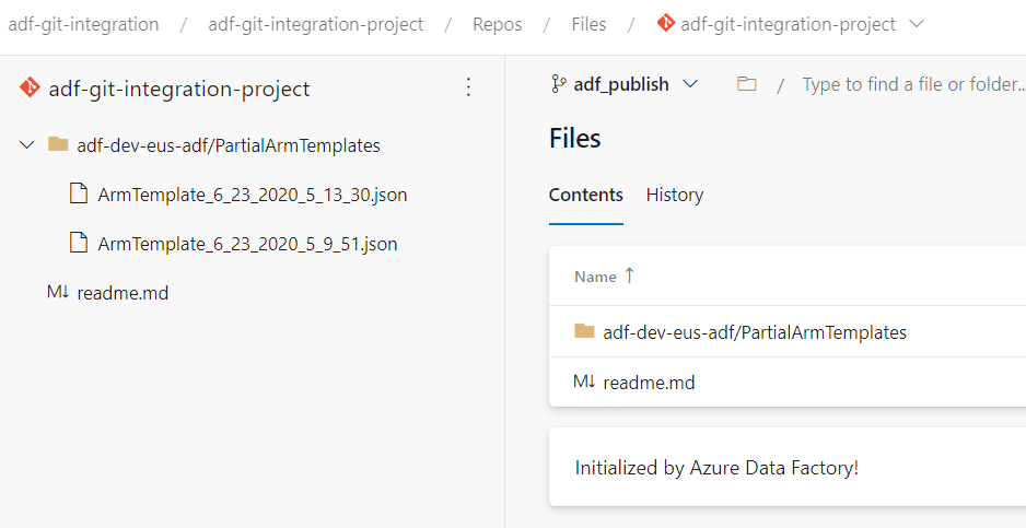 1.Azure Data Factory - Azure DevOps - adf_Publish - Partial ARM Templates
