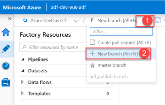 ADF - Developer1 - Create New Branch