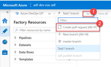 7. ADF - Azure DevOps - Task1 - Create Pull Request
