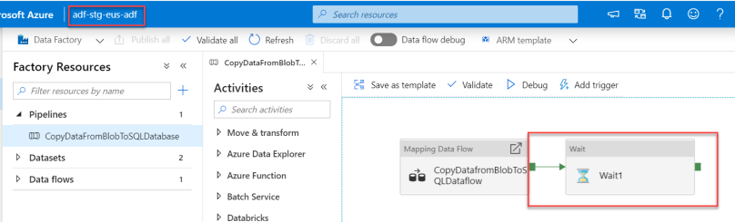 Azure Data Factory - Automated deployments CI CD using Azure DevOps - Staging ADF - After Automated Release