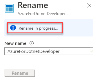 Application Insights - Overview - Rename In Progress
