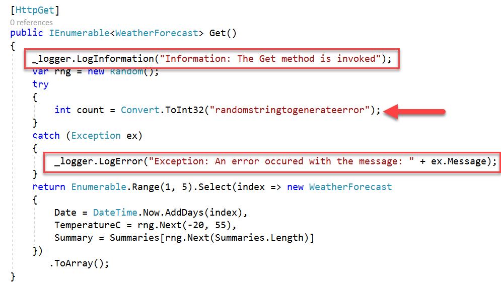 6. Azure Application Insights - Log Errors
