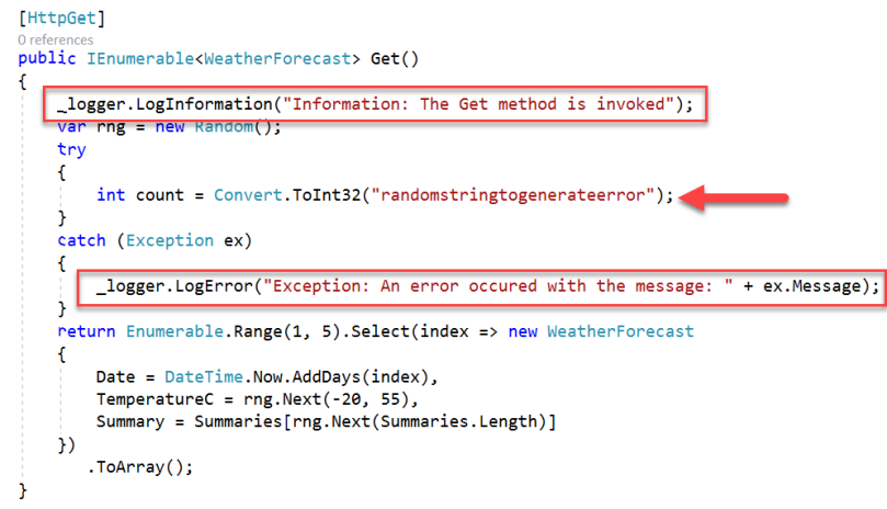 6. Azure Application Insights - Log Errors