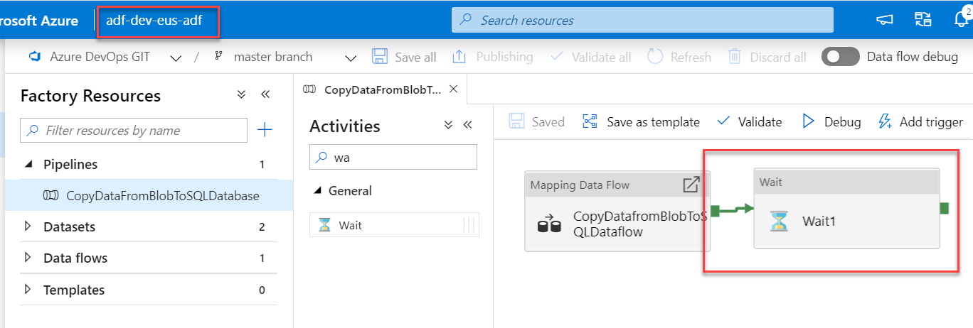 Azure Data Factory - Automated deployments CI CD using Azure DevOps - Dev ADF - Make Changes