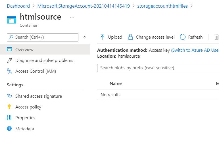 0. Azure DevOps - Storage Account - Empty