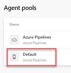 Azure DevOps - Self Hosted Build Agent - Agent Pools