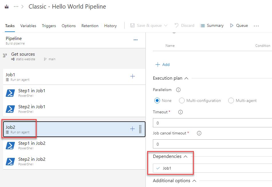3. Azure DevOps - Convert Classic to YAML Pipelines - Job Dependency
