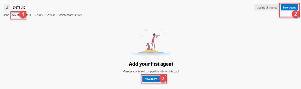 Azure DevOps - Self Hosted Build Agent - Agent Pools - New Agent