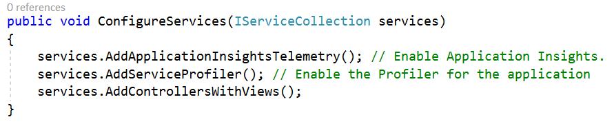 Azure App Service - Profile .Net Core App Service - Linux - Configure Services