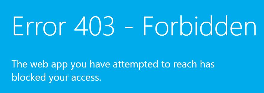 6. Azure DevOps - Access Restriction of Azure App Service using Azure Management Portal - Access Restrictions - Access Forbidden