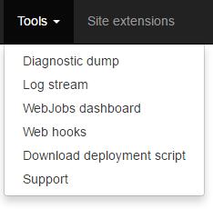 Azure App Service - Kudu - Other Tools
