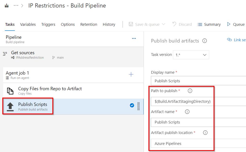 Azure DevOps - Automate Bulk IP Address Restriction of Azure App Service dynamically using PowerShell & Azure DevOps Pipeline - Publish Artifacts