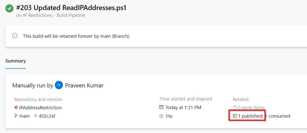 Azure DevOps - Automate Bulk IP Address Restriction of Azure App Service dynamically using PowerShell & Azure DevOps Pipeline - Summary