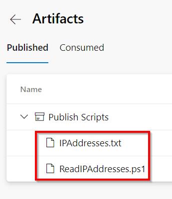 Azure DevOps - Automate Bulk IP Address Restriction of Azure App Service dynamically using PowerShell & Azure DevOps Pipeline - Summary - Publish Artifacts